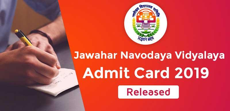JNVST Admit Card 2019: Released