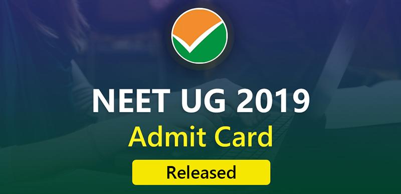 NEET UG 2019: Admit Card Released