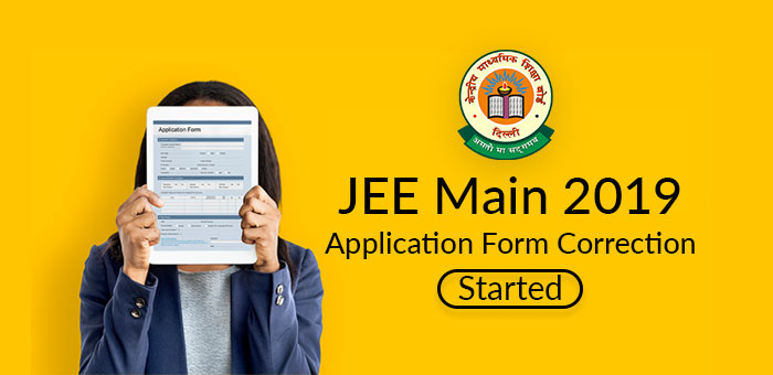 JEE Main 2019 Application Form Correction Started