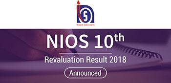 NIOS 10th Revaluation Result 2018 - Announced