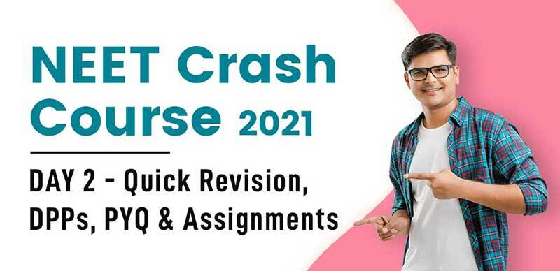NEET Crash Course 2021 : DAY 2 - Quick Revision, DPPs, PYQ & Assignments