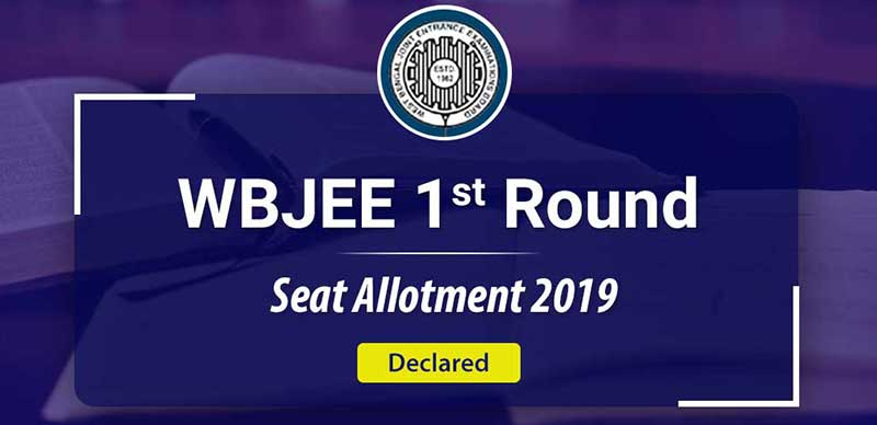 WBJEE 1st Round Seat Allotment 2019: Declared